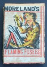 Antique  Matchbox Moreland flaming fusee complete contents #060